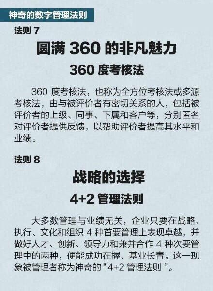 """6个世界500强企业通用的经典管理法则"""""""