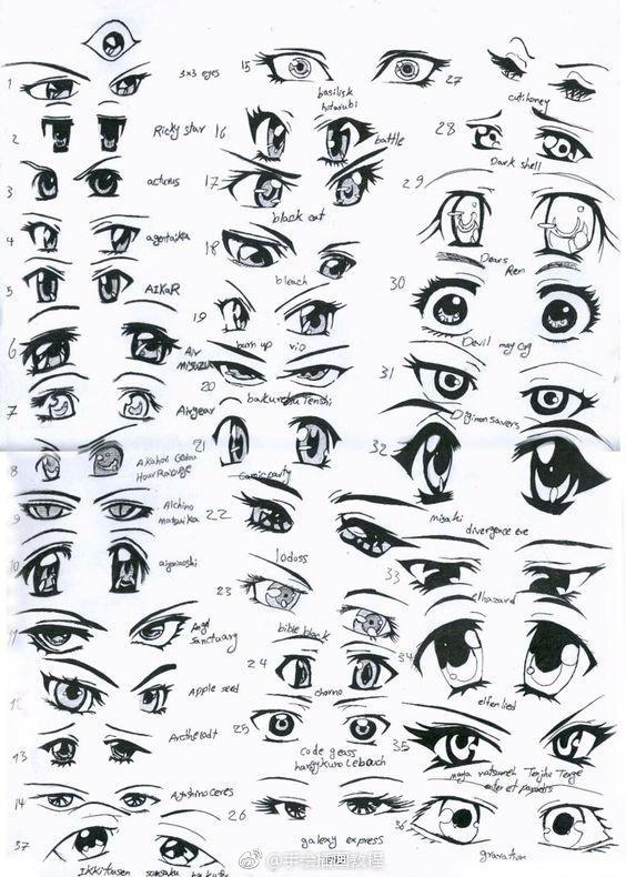史上最全310种眼睛画法