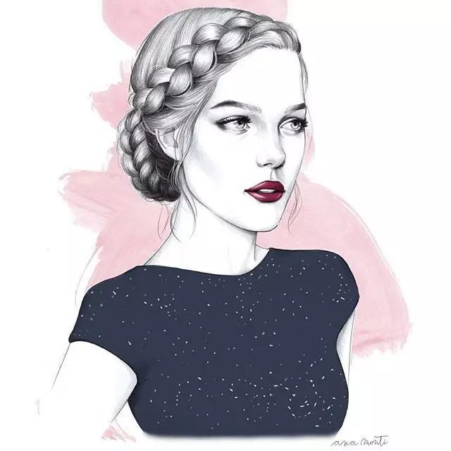 44种手绘发型,拿去临摹吧~
