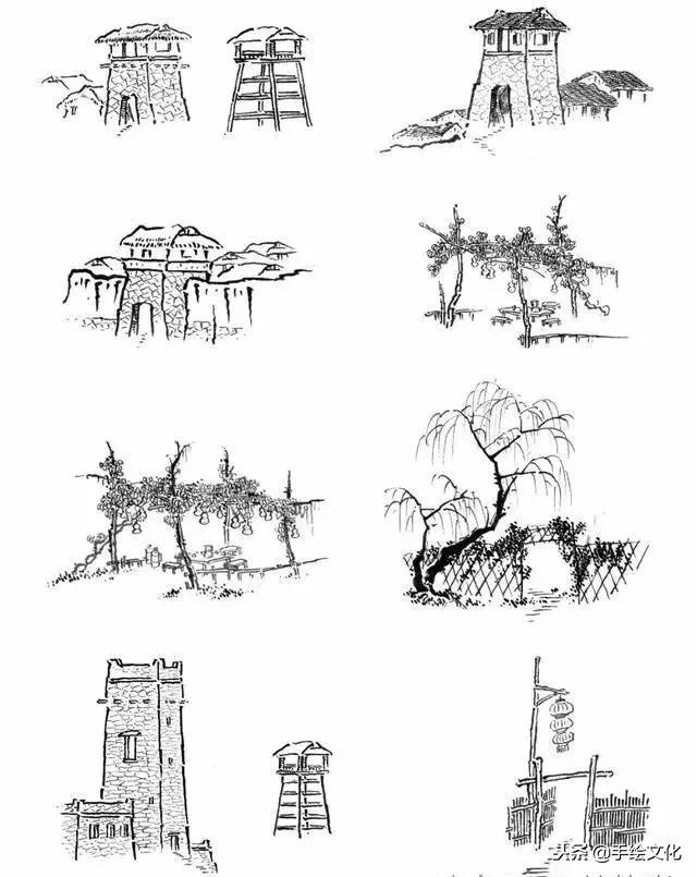 山水绘画分步练习法,太全面太实用了!