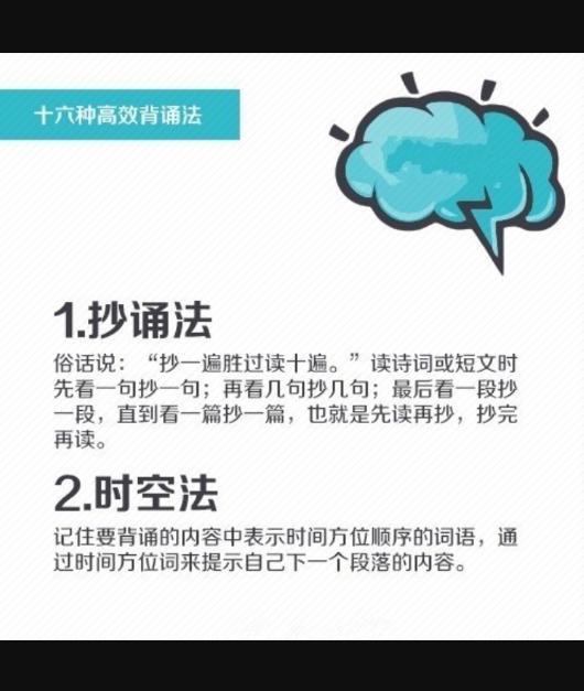 """""""超强记忆力""""养成记——16种高效背诵法,助你练就最强大脑!"""